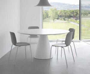 Ikon / Table ronde Ø 150 cm MDF laqué Blanc Pedrali (ref. 14799)