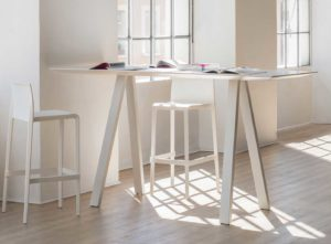 Arki Table / Table haute L200 x 80 cm Blanc Pedrali (ref. 14804)