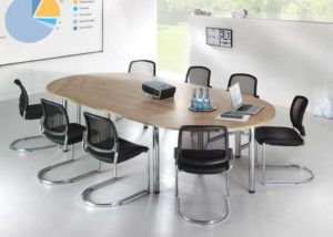 Officeteam / Table de réunion ovale L320 x P160 cm MBEco (ref. 14838i)