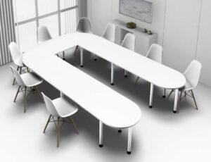 Officeteam / Table de réunion en U L380 x P240 cm MBEco (ref. 14844i)