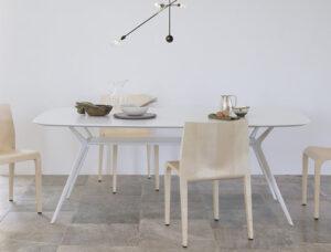 Biplane 40E / Table de réunion rectangulaire L240 cm Blanc Alias (ref. 14990)