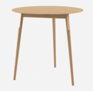 Kayak table / Table en bois Ø 74 cm Chêne naturel Alias (ref. 14999)
