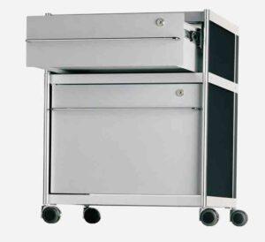 SEC car017 / Caisson à roulettes 2 tiroirs H 660cm Gris Alias (ref. 15025)
