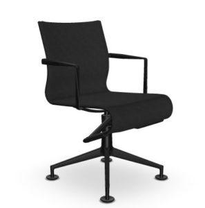 Meetingframe + TILT 47 / Chaise de réunion Noir Alias (ref. 15034)