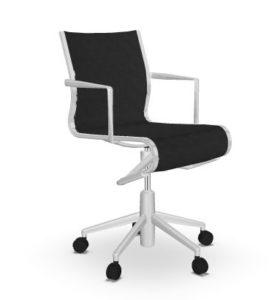 Rollingframe + TILT 47 / Chaise de réunion résille Noir Alias (ref. 15035)