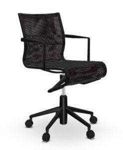 Rollingframe + TILT 47 / Chaise de réunion résille Noir Alias (ref. 15036)