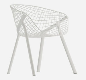 Kobi / Chaise design acier laqué blanc Alias (ref. 15037)