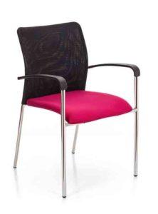 Eva / Chaise de réunion avec accoudoirs MBEco (ref. 15041)
