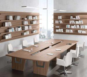 LARUS / Table de réunion L280 cm Della Rovere (ref. 15216i)