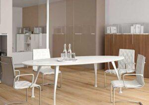 SEGNO / Table de réunion ovale L200 cm Della Rovere (ref. 15228i)