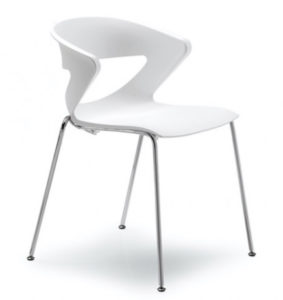 Kicca / Chaise plastique Blanc Kastel (ref. 15243)