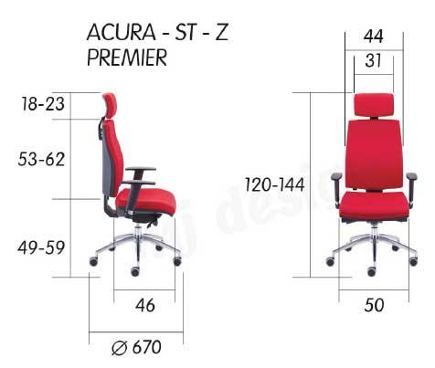 Acura Premier / Fauteuil direction tapissé avec appui-tête mj design (ref. 15446)