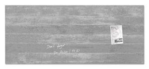 Vision / Tableau en verre magnétique 130 x 55 cm Béton Sigel (ref. 15547)