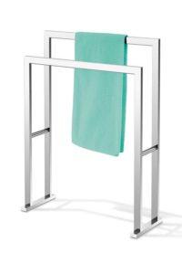 Linea / Porte-serviettes design 2 pieds acier brillant Zack (ref. 15650)