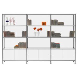 Boox Libreria / Etagère design L274 x H100 cm Blanc Rexite (ref. 16186)