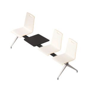 Evasion / Chaises sur poutre 3 places avec tablette Eol (ref. 16305)
