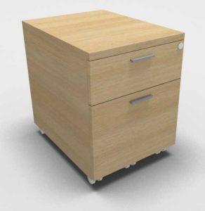 Kara / Caisson à roulettes 2 tiroirs dont 1 à dossiers suspendus Eol (ref. 16381i)