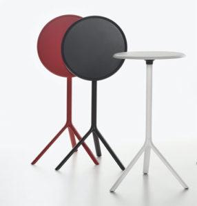Miura / Table haute ronde Ø 60 cm rabattable Métal Plank (ref. 16540i)
