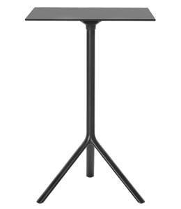 Miura / Table haute carrée 70 x 70 cm rabattable Hpl Plank (ref. 16547i)