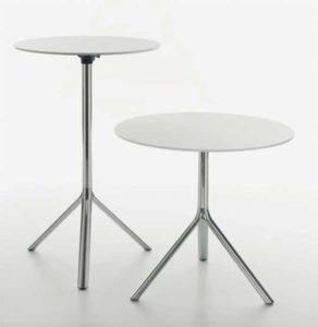 Miura / Table ronde Ø 80 cm rabattable Hpl Plank (ref. 16573)