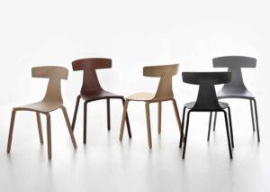 Remo Wood / Chaise en bois design Plank (ref. 16597i)
