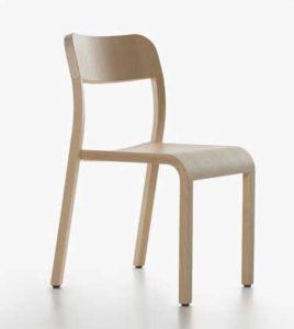 Blocco / Chaise en bois design Plank (ref. 16603i)