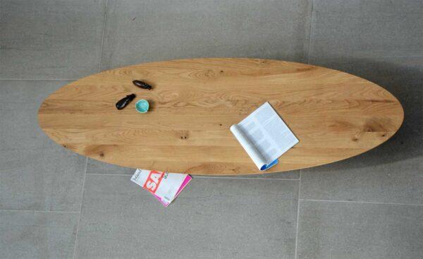 Surf / Table basse ovale en bois L200 cm Jankurtz (ref. 16842)