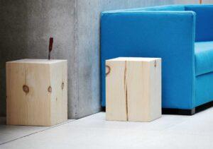 Block / Pouf en bois Jankurtz (ref. 16851i)