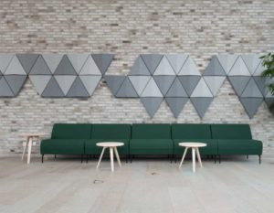 Bits Wall / Panneau mural accoustique Triangle Abstracta (ref. 16864i)