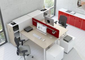 Bureaux open-space, bureaux doubles