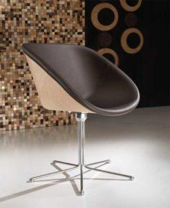 Hibiscus / Fauteuil Lounge en cuir (ref. 10637)