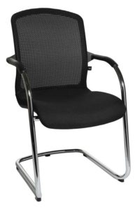 T520 / Chaise visiteur dossier résille (ref. 10653)