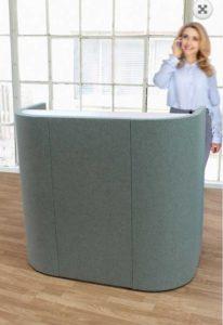 Desk / Comptoir d'accueil acoustique Slalom (ref. 17036i)