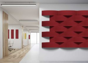 Ecoarch / Panneau acoustique mur et plafond set de 2 Slalom (ref. 17126i)