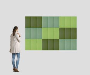 Ecodesk Surface Square / Panneau acoustique mural 40 x 60 cm Set de 9 Slalom (ref. 17242i)