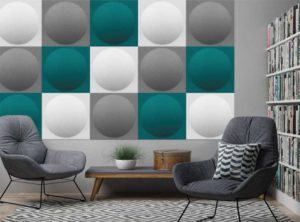 Ecoround / Panneau acoustique rond mur et plafond 60 X 60 cm Set de 2 Slalom (ref. 17272i)