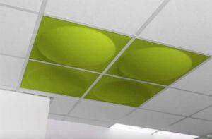 Ecoround / Panneau acoustique Spécial faux plafond 60 X 60 cm Set de 2 (ref. 17282i)