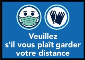 Gardez vos distances / Tapis anti-salissures Wash & Dry (ref. 17509i)