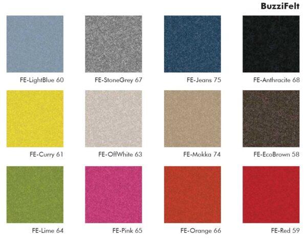 Buzzispace BuzziBlinds Arch Lines / Cloison acoustique pivotante Buzzispace (ref. 18008i)