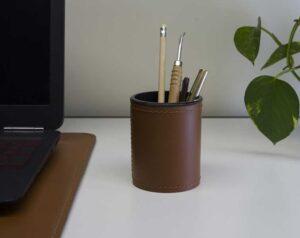 Orfeo / Pot à crayon en cuir Eglooh (ref. 19480i)
