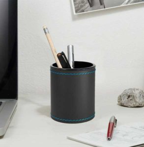 Orfeo Deluxe / Pot à crayon en cuir Eglooh (ref. 19490i)