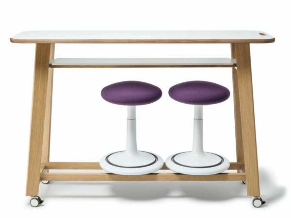 Ongo Meet / Table de réunion haute mobile H110 x L150 cm Ongo (ref. 19713)