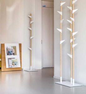 Bamboo 3 Cascando / Portemanteau design 15 crochets Blanc (ref. 10441)