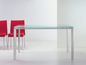 Logico Pedrali / Bureau design en verre Pedrali (ref. 21169i)