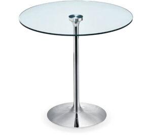 Infinity / Table de réunion ronde verre transparent Midj (ref. 21218i)