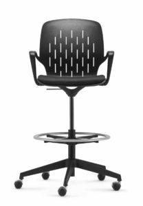 to-sync coworking / Chaise de réunion haute sur roulettes Trend Office (ref. 21714)
