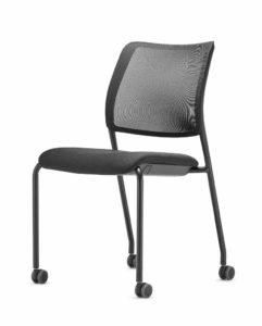 to-sync meet / Chaise de réunion 4 pieds dossier résille Trend Office (ref. 21716i)