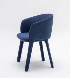 Grace Mdd / Chaise de réunion pieds tapissés mdd (ref. 26952i)
