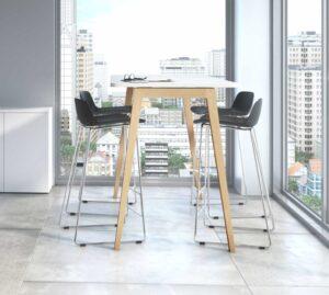 Born / Table haute pieds en bois MBDesign (ref. 26982i)