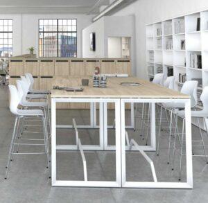 Net / Table haute avec repose-pieds MBDesign (ref. 27126i)